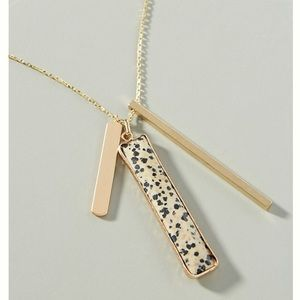 Anthropologie Linear Pendant long Necklace NWT